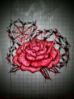 Just Feel like drawing Rose by ThanhHuyTeddyStitch
