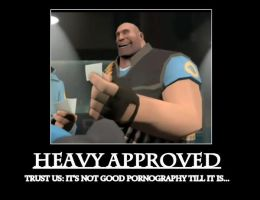 TF2: Heavy Approved by Selecthumor