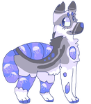 Custom Aqua Dog for Hanni-BUTT by BlackyPaws