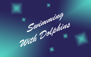 Swimming With Dolphins by stevenrogers777
