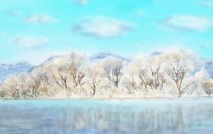 Winter landscape by sacso