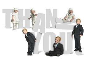 christening thank you card by charliemonster