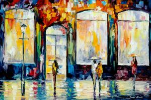 Downtown by Leonid Afremov by Leonidafremov