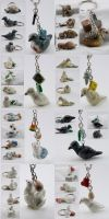 Hatoful Boyfriend: Pigeon Charms by xella
