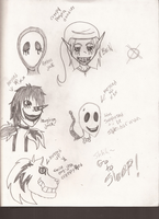 Creepy Pasta doodles by Dysfunctional-H0rr0r
