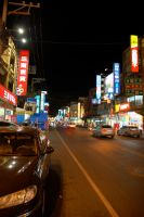 Taiwan Streets at Night by Malakhite