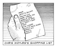 Chris Moyles's Shopping List by TomRFoster