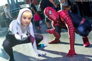 New York Comic Con 2015 - Spider Couple 2 by VideoGameStupid