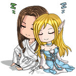 Sleeping Pair: AdrenXShandril by Firetiger215