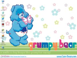 Grumpy Bear Desktop by bunnyfriend