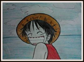 Monkey D. Luffy drawing by keichan77