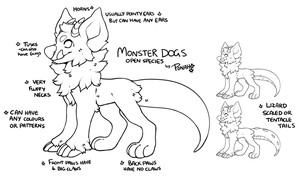 Monster dog Ref (OPEN SPECIES) by Ponacho