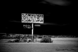 Motel Sign IR by rjcarroll