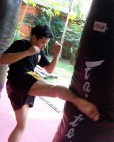 Training at Fairtex by striderchea