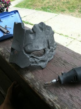 Death's Mask from Darksiders II WIP dremeling by AFXtuming