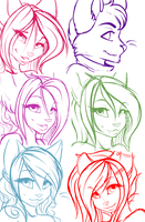 Icon sketches by l-Blair-l