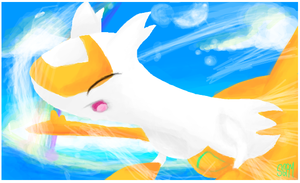 Shiny Latias- drawing from Sketchfu by Aqws7