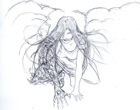 Sketch of Witchblade by daniel1988lopez