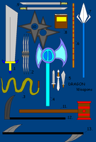 DRAGON Weapons by darkheart22