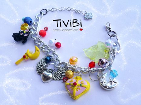 Sailor Moon bracelet by tivibi