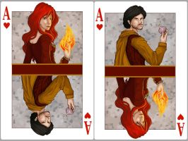 Ace of Hearts: Melisandre x Davos Seaworth by SephyStabbity