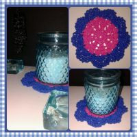Crochet flower coaster by NIENKEdeGRAEF