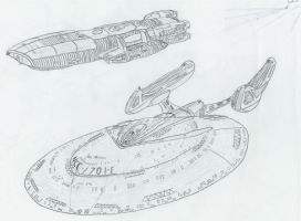 Enterprise Galactica sketch by TheFreighTrain