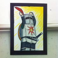 LEGO Solaire of Astora sketchcard by thesometimers