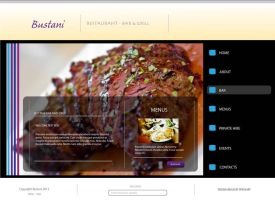 restaurant web design by speckartstudios