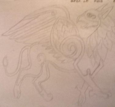 Celtic griffin by Shadle1