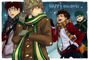 Oofuri: Happy Holidays by soopabunnie