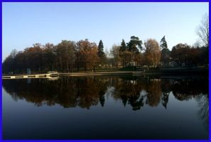 Park by the lake by Sharka-Larim