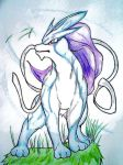 Little brothers first Picture, Suicune by AZURA-FANG