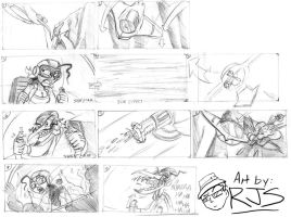 JKS Storyboarding-Dogfight by ronnieraccoon