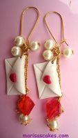Love Letters Earrings by PinkCakes