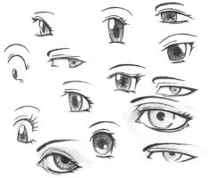 Eyes Practice by Tsukiakariko