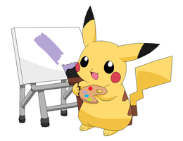 Painting Time by Raichu2001
