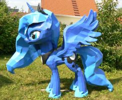 Luna papercraft in the garden by Znegil