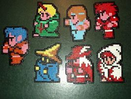 Final Fantasy party hama beads by NerdCraft