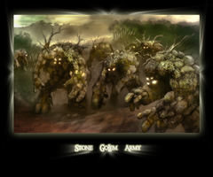 Stone_Golem_Army color by khim3ra