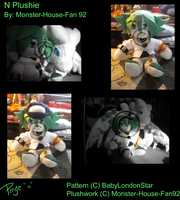 N Plushie by Monster-House-Fan92