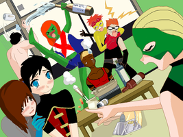 Young Justice Party by ImElectrica