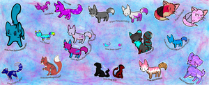 Adoptables Collage by Kinetic-Passion