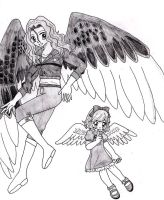 Maximum Ride and Angel by Himeno24