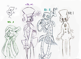 Rise Host Sketches by CurlyPoCkY