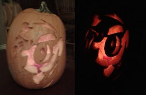 Rainbow Dash Pumpkin Carving by pepsidrink19
