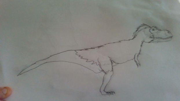 Feathered Rexy. by Aang10