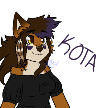 .:AT:. Kota (unshaded) by imKatAttack