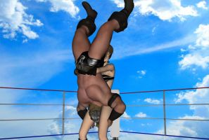 Daz3d: Mixed Wrestling test Part 9 by fulgore12