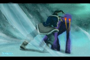 Korra vs Evil Spirit (South Pole Batlle) by SolKorra
